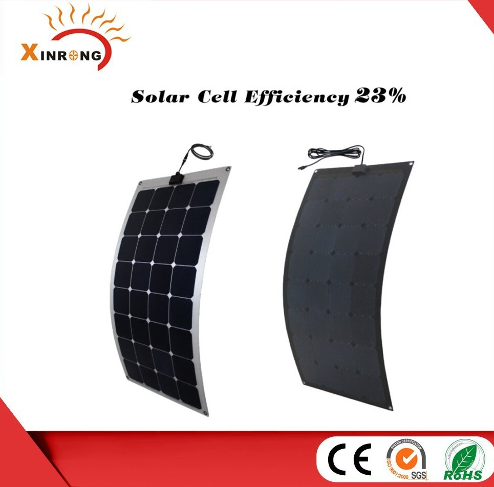 2015 Hot Sell 23% Sunpower brand Semi Flexible Solar Panel 100w
