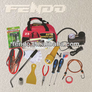 auto safety kit roadside car emergency kit with air compressor