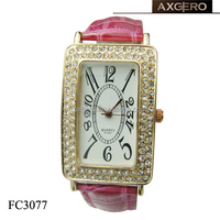 lady watch with crystal , cheap fancy watches stone watch for lady