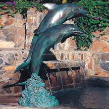 High Quality outdoor bronze dolphin water fountain