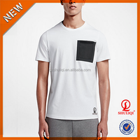 Decorative pocket printed t shirt/unisex 100% cotton t shirt wholesale cheap/custom dri fit handsome men t-shirt print