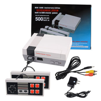 Family retro game console TV classic game player built in 500 & 620 games with AV cable