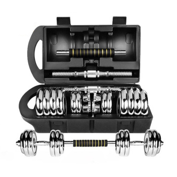 Adjustable Chromed 15kg Dumbbell Set