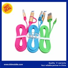 2016 2 in 1 Fashion wearable USB data cable USB fast charging bracelet cable 6 colors