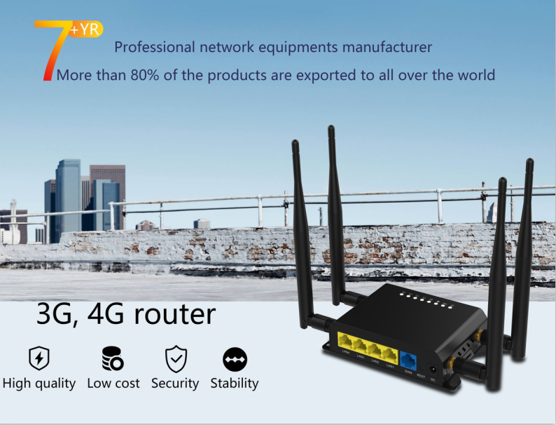 New 4G lte router preload openwrt with CE RoHS certificate