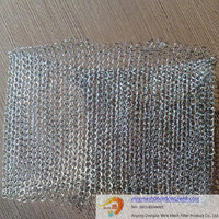 Knitted Filters Wire Mesh/Hexagonal Hole Shape and Galvanized Iron Wire,Iron Material wire mesh