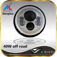 4x4 12V 7inch 4wd lights led fog lamp auto headlight for off road Jeep Wrangler 40w spot/flood beam