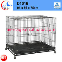 folding dog crate with wheel
