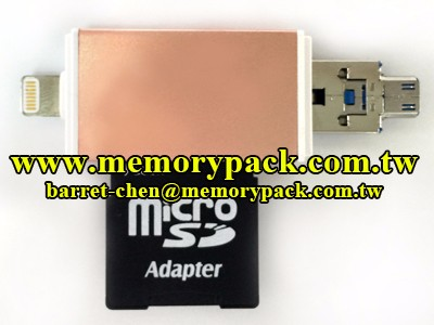 USB OTG reader micro SD for IOS Android smart phone NB PC macbook