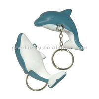2013 dolphin shaped key chain,festival gift,pu key chain