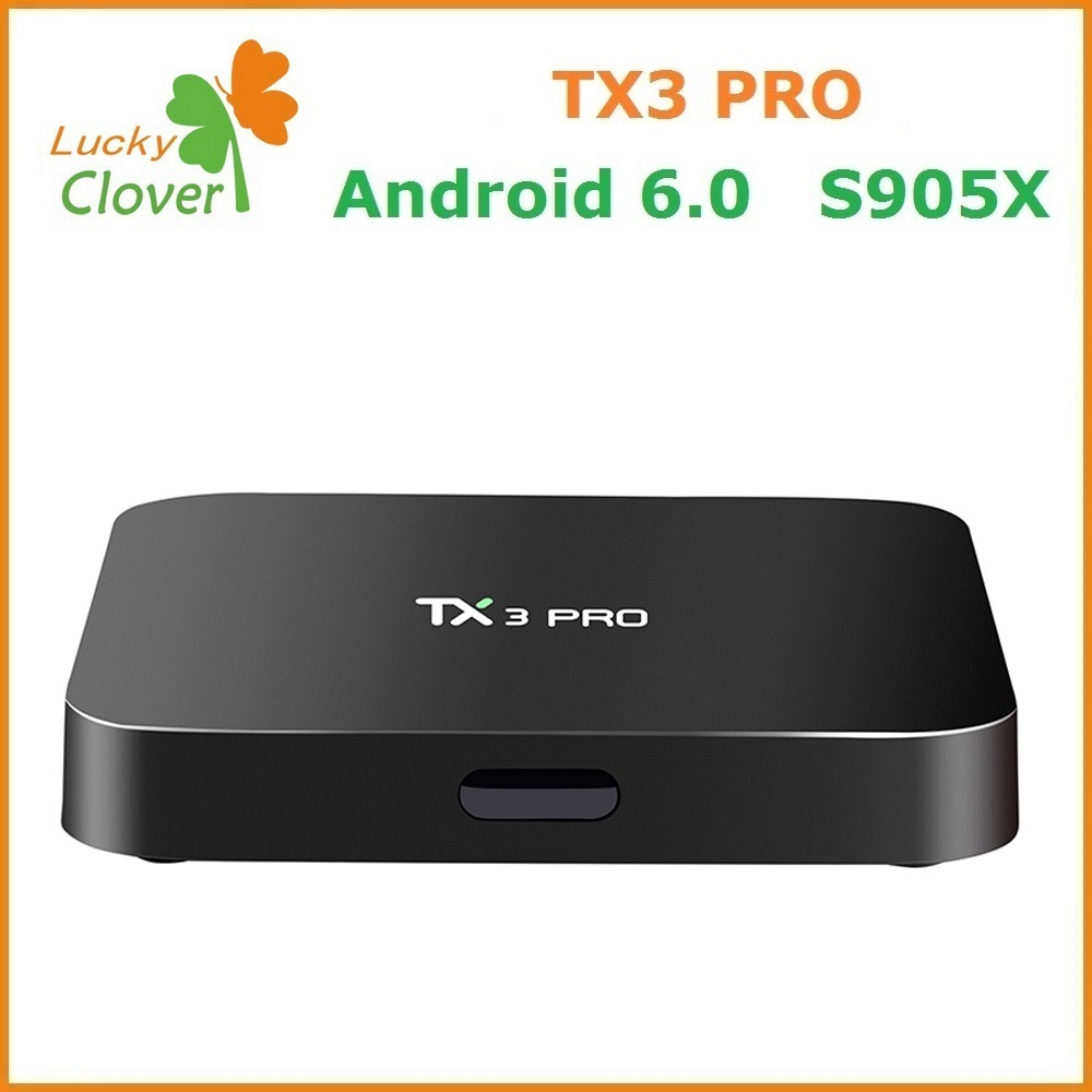 Android TX3 Pro Box Android 6.0 Amlogic S905X Penta Core 1+8GB Tx3PRO Smart Android TV Box/ TV Receiver in Set Top Box
