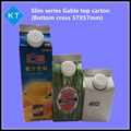 New and hot sales Slim type Beverage Gable top cartons