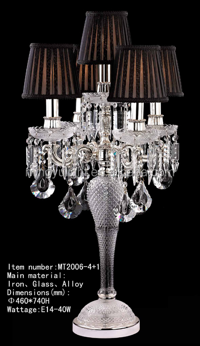 antique crystal chandelier table lamp for hotel or home