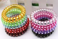 NEW elastic telephone hair ring candy color fashion hair band factory sale