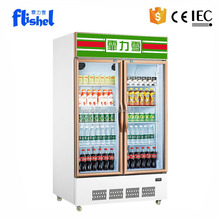 480L soft drink commercial used upright glass door refrigerator