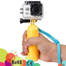 Free sample 2016 Colorful Bobber Floating Hand Grip for go pro 1,2,3,4 sjcam xiaomi yi action camera accessories