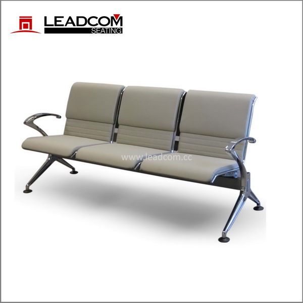 Leadcom upholstered padding airport waiting chair for sale (LS-517NB)