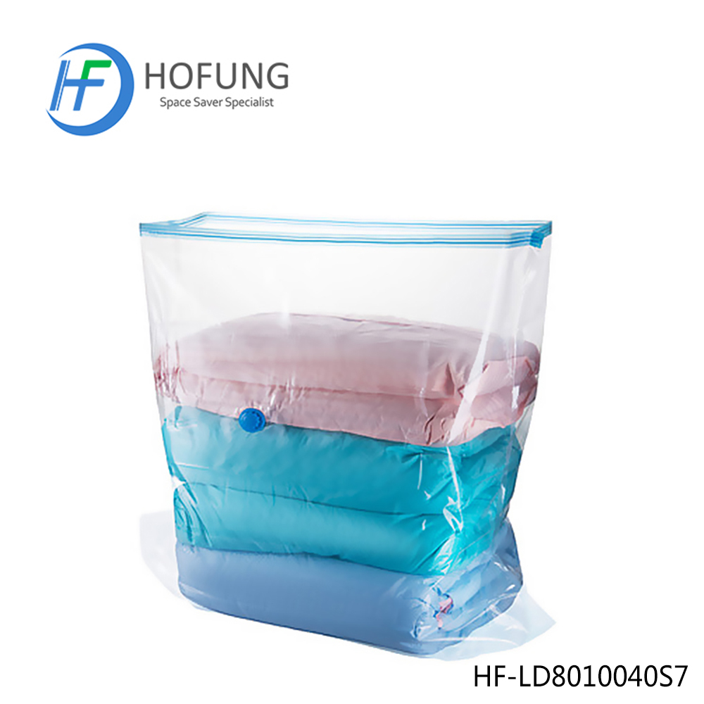 Ziplock Clothing Transparent Cube Vacuum Seal Storage Bag