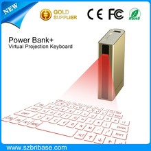 2015 New innovative virtual laser keyboard with 5200 mAh Power bank and mouse function via bluetooth and USB connection for iPad