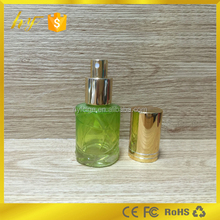 Professional production of 50ml green glass perfume & cosmetic bottle from bottle manufacturer
