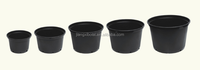 1, 2, 2.5, 3, 5, 7, 10 gallon nursery plastic flower pot/garden pot wholesale