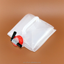 High Quality Plastic Transparent Custom Storage Foldable Drinking Water Bag