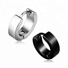 Punk style cool men stainless steel earring cuff
