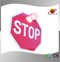solar blinking stop road sign led with lens