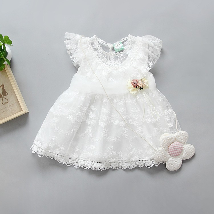 2017 Kids Girls Tulle Lace Bow Party Dresses Baby Girl TuTu Princess Dress Babies Korean Style Suspender Dress Children