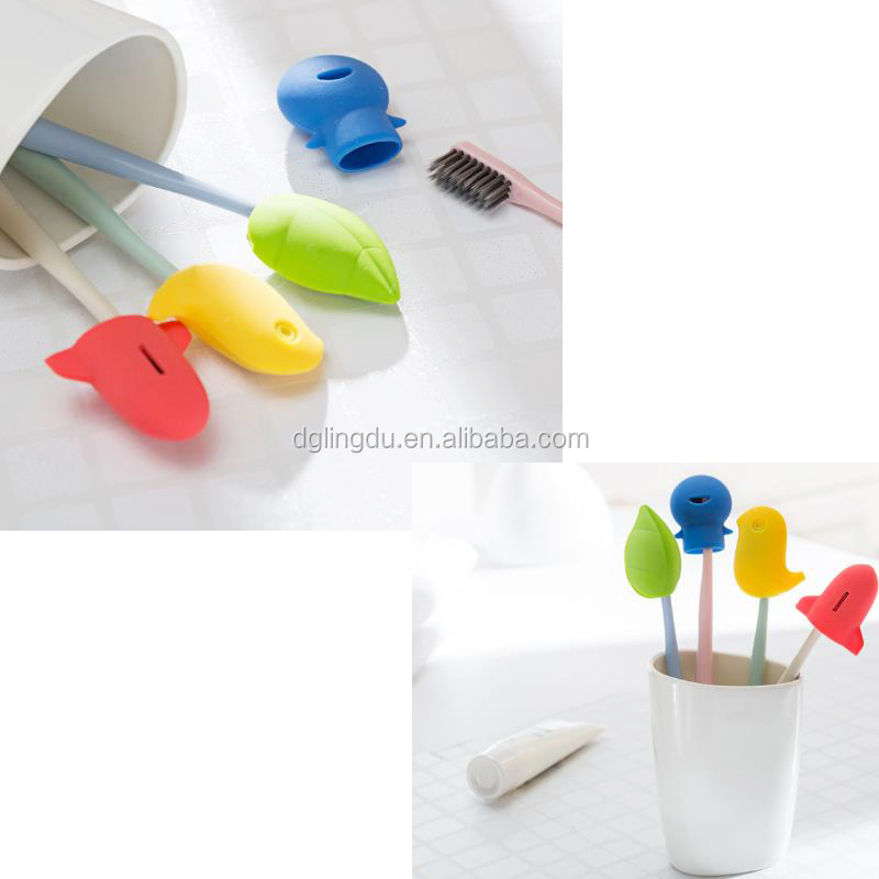 Competitive price plastic travel toothbrush head protector case cover set