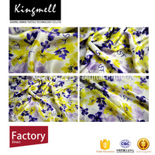NO MOQ customizable digital print floral satin brocade polyester fabric