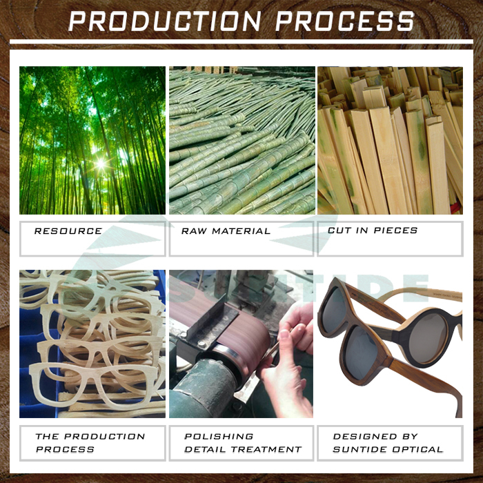 Custom logo sunglasses wholesale bamboo sunglasses