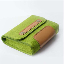 Factory made portable felt purse power bank bag case