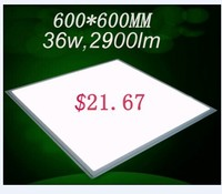 Best price! $21.67 80lm/w isolated driver high brightness ultra thin 36w 600 600mm led panel