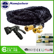 New Black XXX Expandable Garden Hose Brass Valve Fitting, Hose Hanger