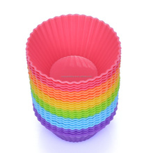 Kitchen Craft Colour works Silicone Reusable Cupcake Cases, 7 cm