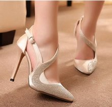 06E09 china gold supplier fast deliver high heel pointed toe woman shoes