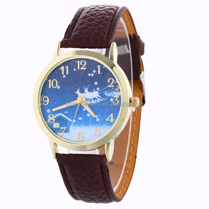 Artificial Leather Christmas Even Quartz Analog Wrist Watch BWL 206