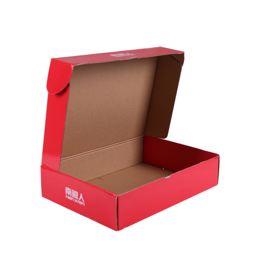 Custom e flute corrugated paper clothing packaging boxes