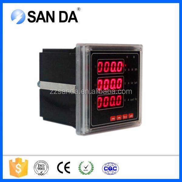 Multifunction Panel Meter : Digital panel factory multifunction power meter for u i