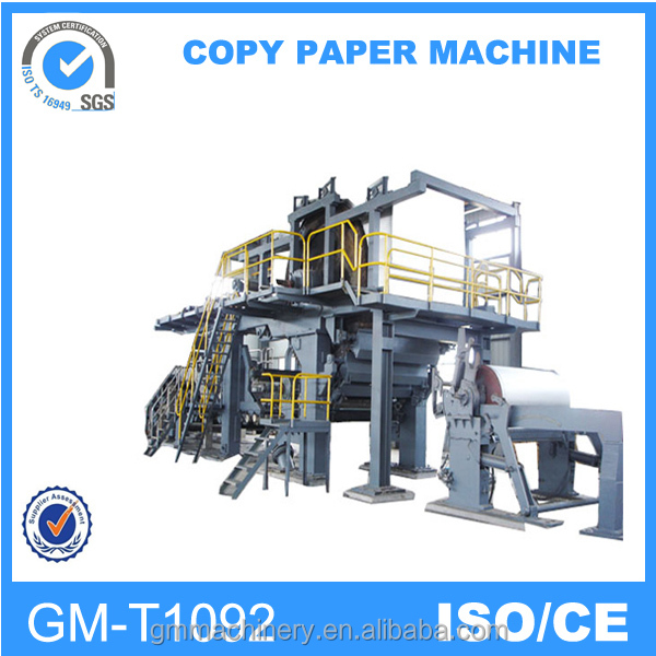 Buy direct from china manufacturer 1092mm double-dryer can and double cylinder mould culture paper machine