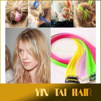 New Women Highlight Multi Color Long Straight Synthetic Clip in Hair Extensions Hair Piece