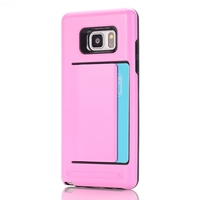 For Samsung Galaxy Note 7 Case Hybrid Rubber TPU Cover Hidden Credit Card Cash Id Holder Slot Case