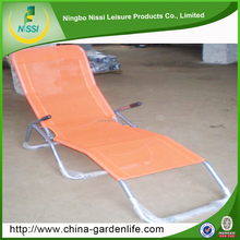 new designed steel Sun Lounger small folding beach chair