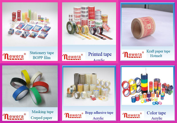 Bopp jumbo roll acrylic packing gum tape for tape factory slitting