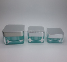 Personal Care Industrial Use Square Heavy Wall Acrylic Jar 15g 30g 50g Cosmetic Cream Jar