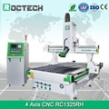 2017 Roctech 1325 4 Axis Cnc Engraving Machine For Wood