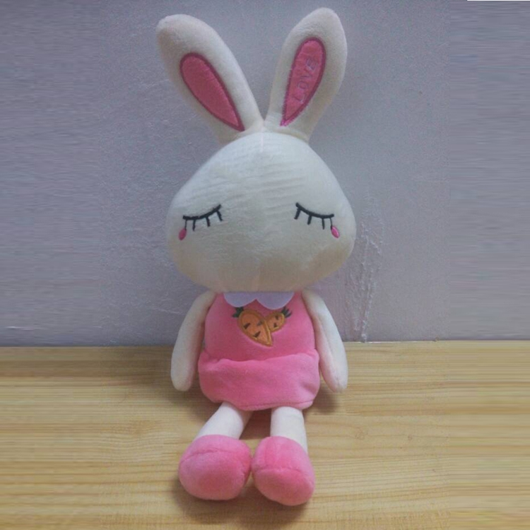 Factory Custom Middle Hot Kids gift Cute Plush Bunny Animal Stuffed Toys Rabbit