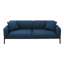 Cheap blue lounge chesterfield 2 3 seater linen sofa made in China
