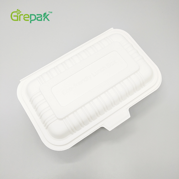 600ml Biodegradable Corn starch Disposable Green Environmentally friendly Lunch Box